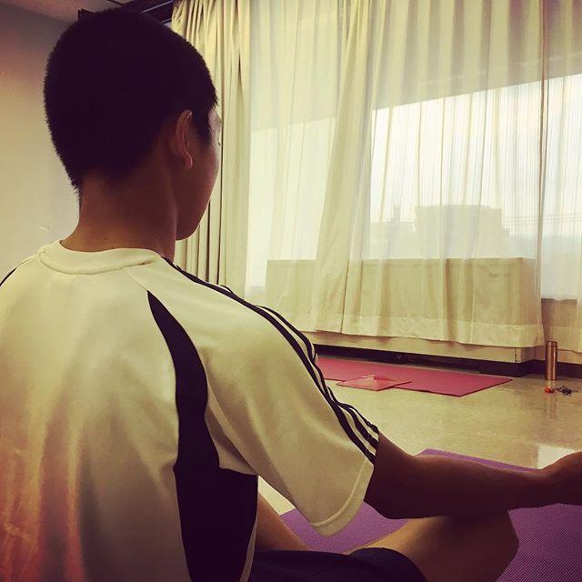 次男も身体づくりのためyogaを始めますよろしくお願いします#yogamate #唐津 #野球の身体づくり
