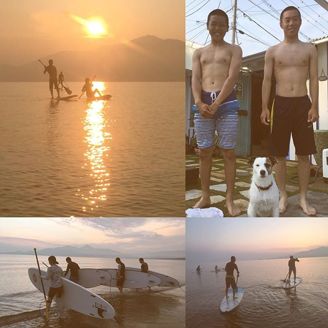 15歳の初体験❣️・#karatsubeachclub #surfing #SUP#oceanview