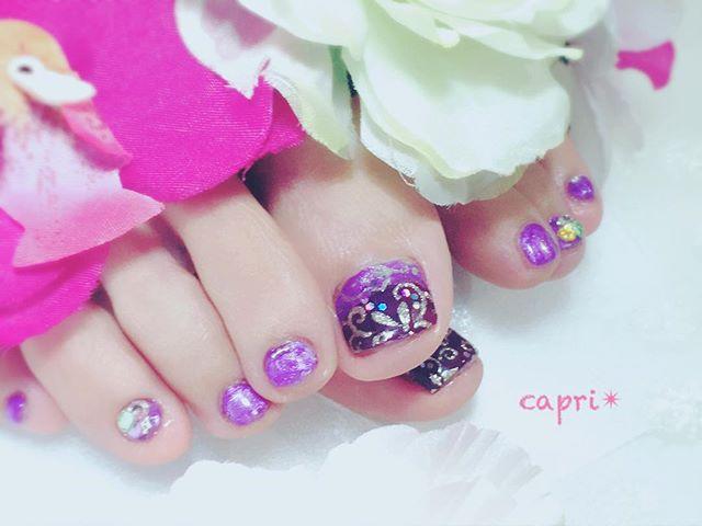 European nail・purpleのグラデーション。大人の深み。・colorはお客様に合わせ作ったオリジナル・落ち着いた秋にぴったり。http://capri.016.link/#capri #唐津ネイル #purplenails #秋ネイル